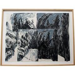 In the Garden #118 Screen-Print by Jennifer Bartlett Framed Signed & Numbered