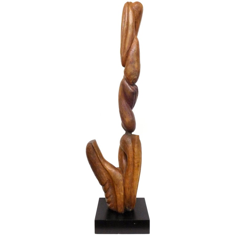 Biomorphic Carved-Wood Sculpture