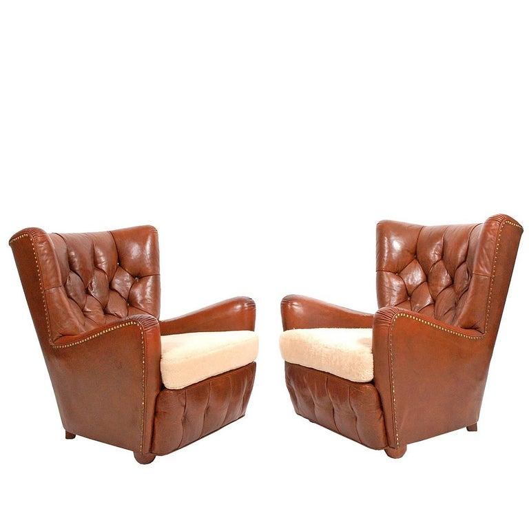 Pair of 1930s Danish Easy Chairs