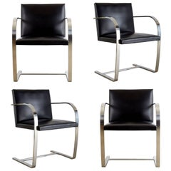 Signed Knoll Associates Brno Chairs by Mies van der Rohe, Set of Four