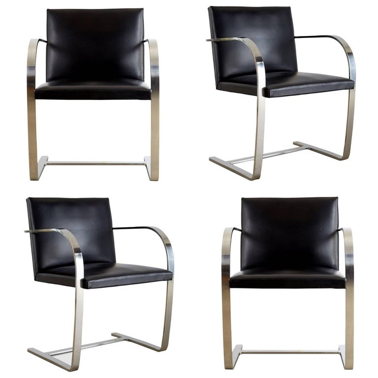 Signed knoll associates brno chairs by mies van der rohe for Knoll associates