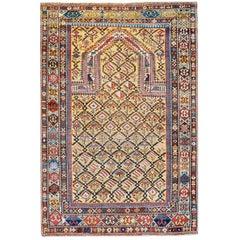 Extraordinary Late 19th Century Shriven Prayer Rug