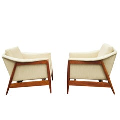 Pair of 1950s DUX Style Danish Mid-Century Modern Lounge Chairs
