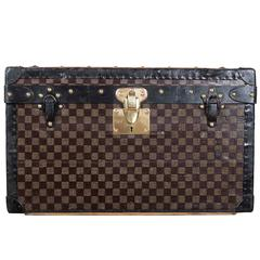 1920s Louis Vuitton Custom Monogramed Boot Case with Original Key and Dust Bag