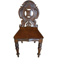 Good Single English Mahogany Hall Chair