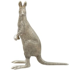 1900s Sterling Silver Model of a Kangaroo