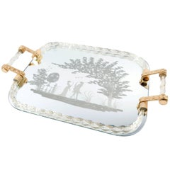 20th Century Murano Mirrored Gallery Vanity Tray
