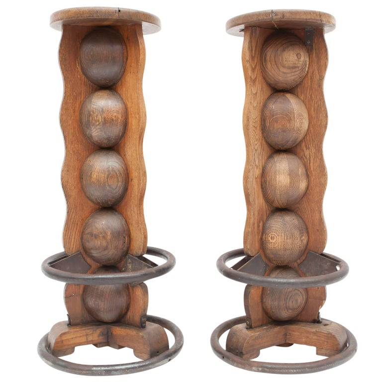 Pair of Charles Dudouyt Stools