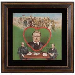 Graphic and Colorful Teddy Roosevelt Textile