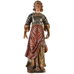 Large, 18th Century, Painted Santos Figure