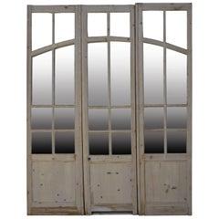 Fir Glass Door, 19th Century