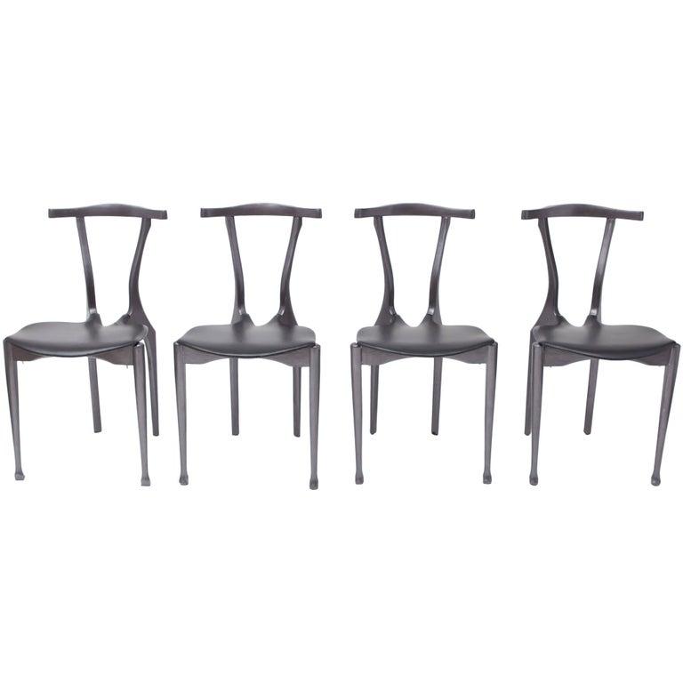 Set of Oscar Tusquets Gaulino Chairs Black