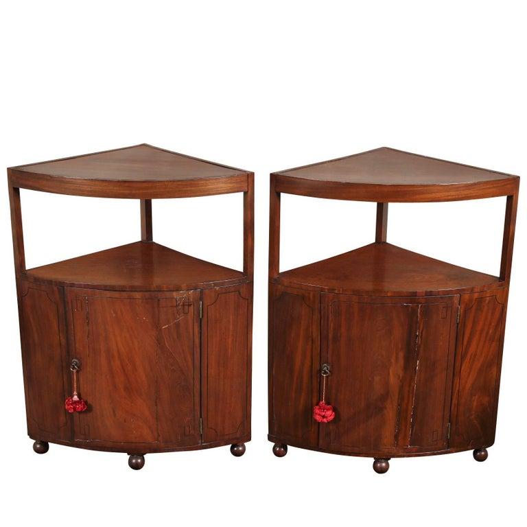 Pair of Antique Corner Cabinets For Sale - Pair Of Antique Corner Cabinets At 1stdibs
