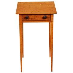American Federal Figured Bird's-Eye Maple Side Table