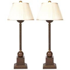 Pair of Vintage Candlestick Lamps