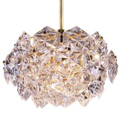 Gold-Plated Crystal Chandelier by Kinkeldey, Germany