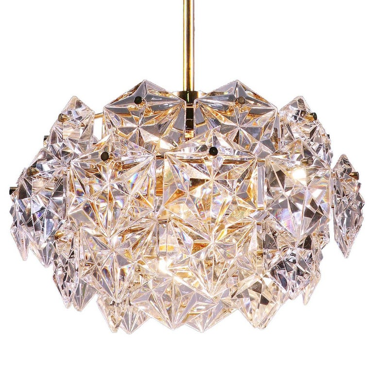 Gold-Plated Crystal Chandelier by Kinkeldey, Germany For Sale at ...