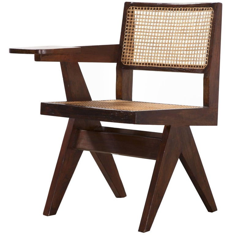 Pierre Jeanneret, Writing Chair, circa 1960 For Sale