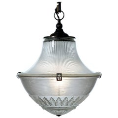 Early and Ornate Holophane Bank Light