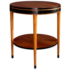 Stylish American Mid-Century Modern Ash Circular Side Table