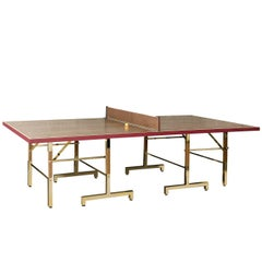 Ping-Pong Table in Briar-Root Walnut Wood