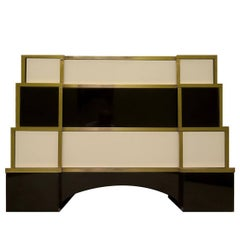 Chest of Drawers in Glass and Brass