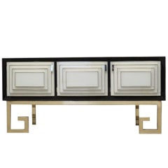 Geometric Sideboard in Glass and Brass