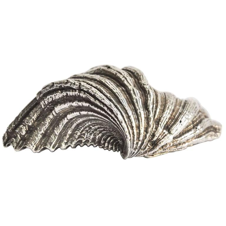 Buccellati Sterling Silver Encrusted Shell