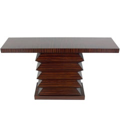 Sculptural Zebra Wood Console Table