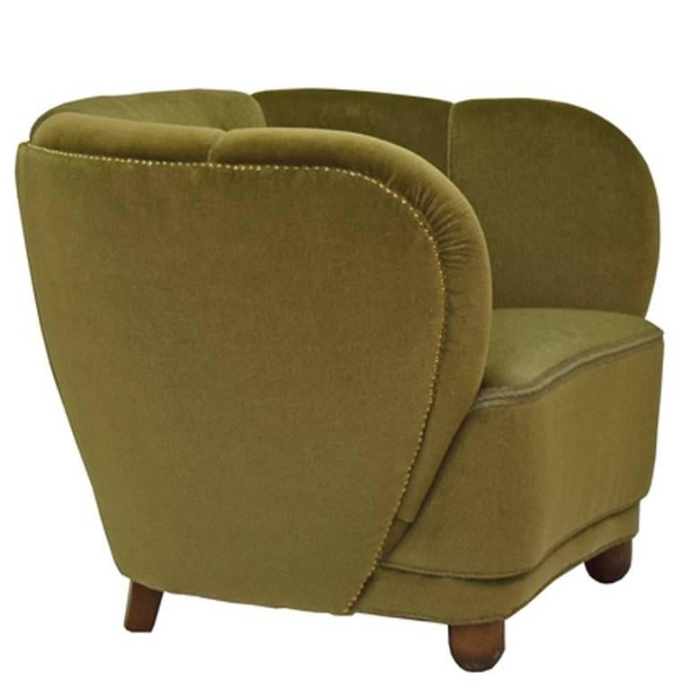 1940s Danish Free-Form Easy Chair
