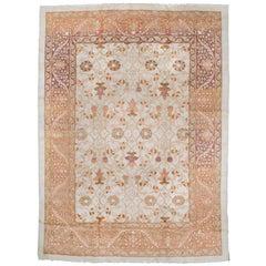 Antique Ivory Background Amritsar Carpet