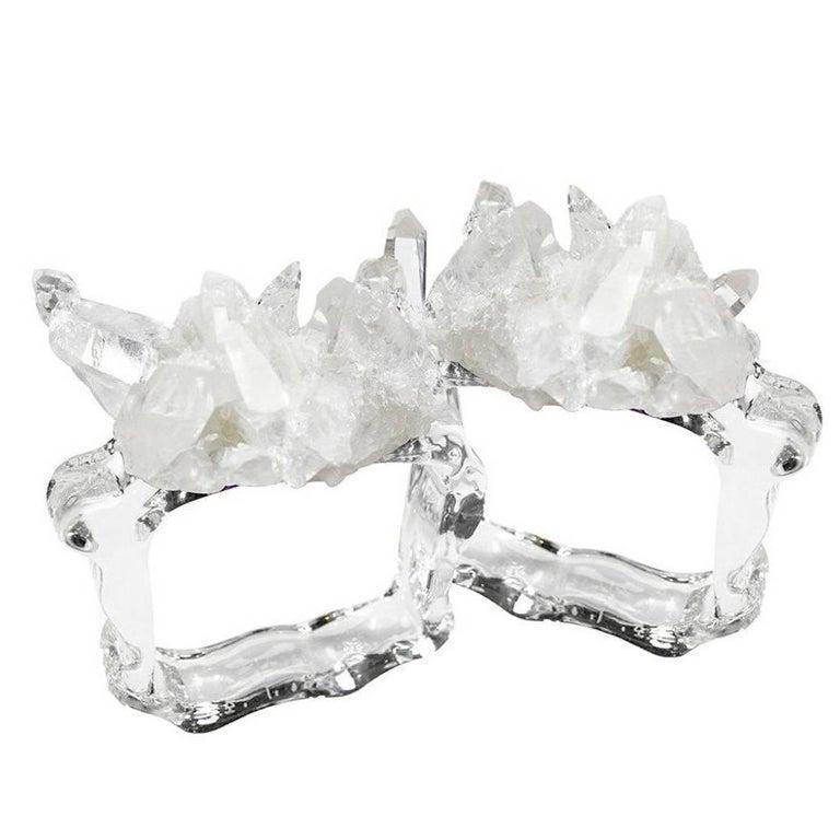 Pair of Crystal Napkin Rings