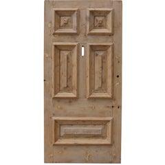 19th Century Stripped Pine Front Door