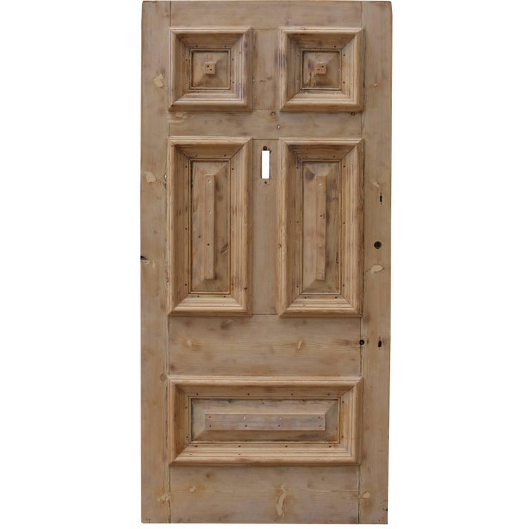 19th Century Stripped Pine Front Door For Sale At 1stdibs