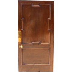 Good Quality 19th Century Walnut and Oak Door