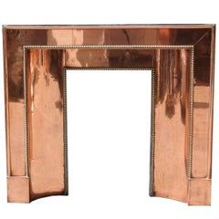 Art Deco Copper and Brass Fire Insert