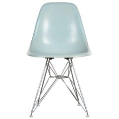 Eames DSR Rare Light Blue Dining Chair Herman Miller, USA