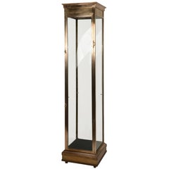 Vertical Brass Vitrine