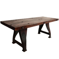 Thick Top Industrial Table