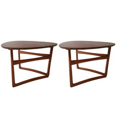 Pair of Peter Hvidt Folding Side Tables