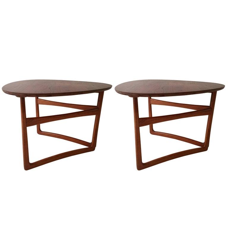 Pair of Peter Hvidt Folding Side Tables