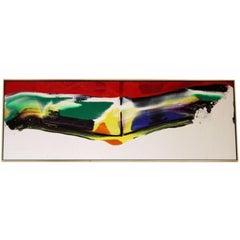 Mid-Century Modern Original Paul Jenkins Abstract Acrylic Painting with COA