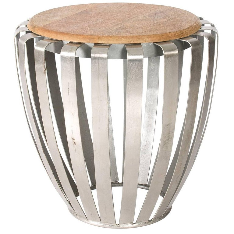 Drum side table for sale at 1stdibs for Drum side table