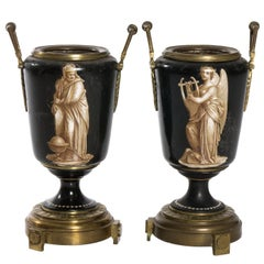 Pair Early 20th Century French Urns