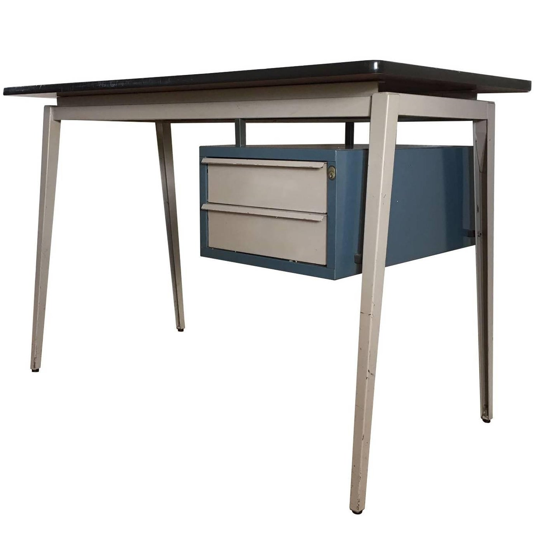 vtg 1940 50s simmons furniture metal medical. Grey Friso Kramer And Prouvé Style Desk, By Marko, 1950s-1960s Vtg 1940 50s Simmons Furniture Metal Medical
