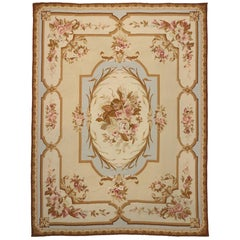 Vintage Chinese Needlepoint Rug with Aubusson Design and French Provincial Style