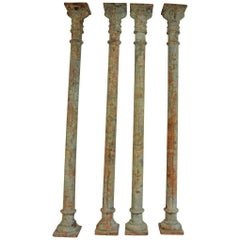 Sensational Set of Four 19th Century Spanish Columns in Cast Iron