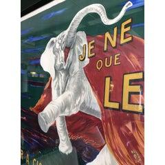 Gargantuan Framed Vintage Elephant Poster