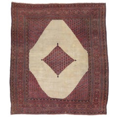 Antique Persian Khorassan Rug with Traditional Style
