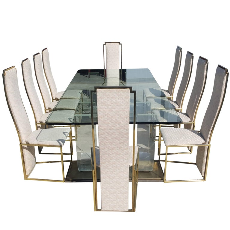 Maison Jansen Extra Large Dining Set from the 1970s For Sale